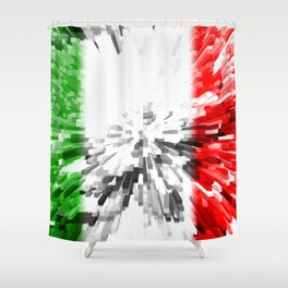 Extruded Flag of Italy Shower Curtain