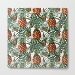 King Pineapple Metal Print
