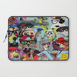 Hip Animals with Glasses . . . The Cool Kids! Laptop Sleeve