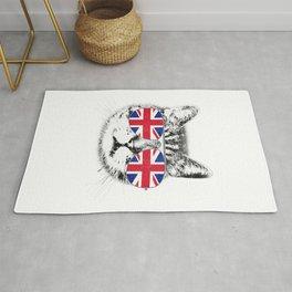 UK Union Jack Flag T-Shirt English England Cat Lover British Rug