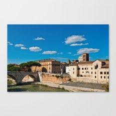 The Tiber Island in Rome Canvas Print