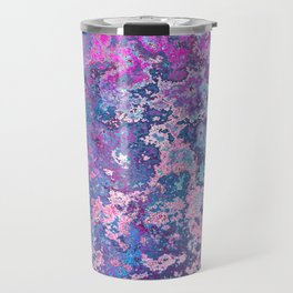 Paint Splatter in Blue Raspberry Travel Mug