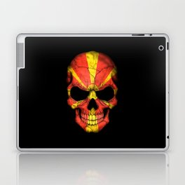 Dark Skull with Flag of Macedonia Laptop & iPad Skin