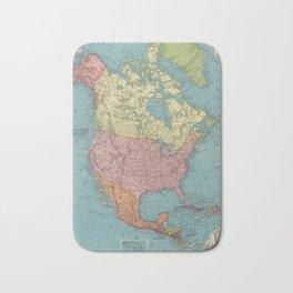 Vintage Map of North America (1903) Bath Mat