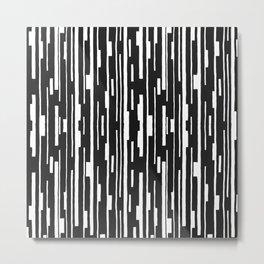 Abstract Code Metal Print