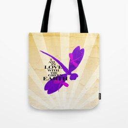 Dragonflies Green Earth Love Tote Bag