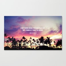 1980's sunset and quote Canvas Print