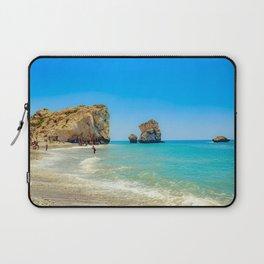 Cyprus Beach Scene Laptop Sleeve