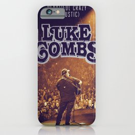 luke combs tour 2020 dede6 iPhone Case