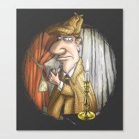 sherlock holmes Canvas Prints featuring Sherlock Holmes! by Berni Store