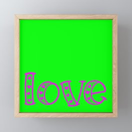 Love & Flashy Colors Framed Mini Art Print