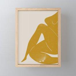 Nude Woman Sitting  Framed Mini Art Print