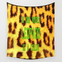 leopard Wall Tapestries featuring leopard by madild