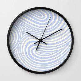 Waves in Periwinkle Wall Clock