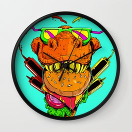 Food Face Wall Clock