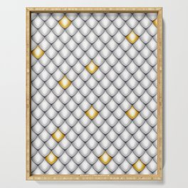 Fish Scale Pattern Design Serving Tray