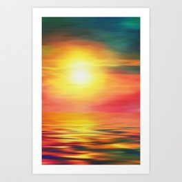 Back to the Summer Art Print