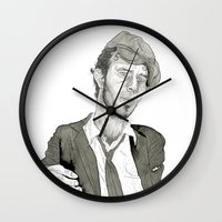 tom waits Wall Clocks featuring Tom Waits: The Early Years by Andy Christofi
