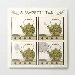 A Favorite Tune - Whistling Tea Kettle Metal Print