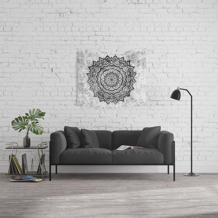 BLACK JEWEL MANDALA Wall Tapestry