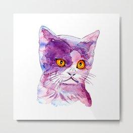 cosmic cat Metal Print
