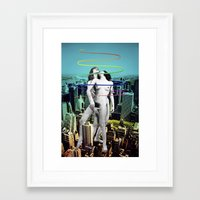 sex and the city Framed Art Prints featuring Sex in the City by Collage Calamity