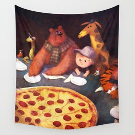Pizza Time Wall Tapestry