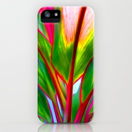 Ti Leaf Series #4 iPhone Case