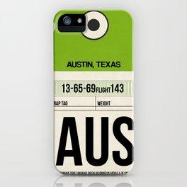 AUS Austin Luggage Tag 1 iPhone Case