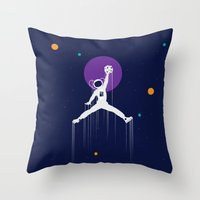 nba Throw Pillows featuring NBA Space by Tony Vazquez