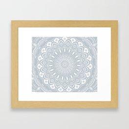 Cool Gray Mandala Simplistic Bold Minimal Minimalistic Framed Art Print