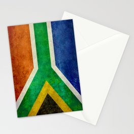 National flag of the Republic of South Africa Stationery Cards