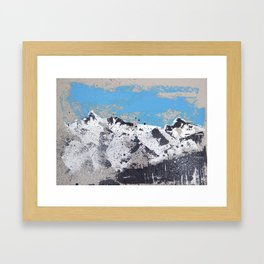 Mountain view from Saas Fee Framed Art Print