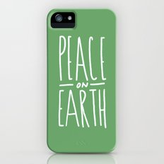 Peace on Earth (Green) Slim Case iPhone (5, 5s)