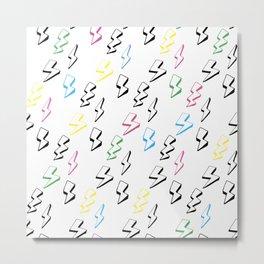 Multicolored lightning, illustration Metal Print