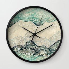 Crash Into Me Waves Wall Clock
