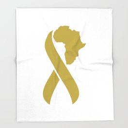 Fighting Childhood Cancer in Africa Throw Blanket