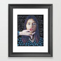 ::dream for a while:: Framed Art Print