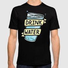 Drink Water Mens Fitted Tee MEDIUM Black