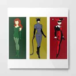 Awesome Women of the DC Villains Metal Print