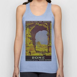 Vintage poster - Rome Unisex Tank Top