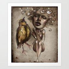 unheard Art Print