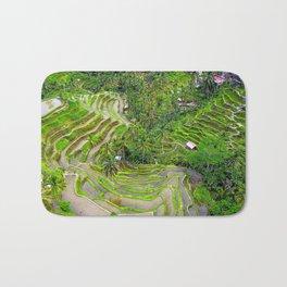 Bali Tegalalang Rice Terrace Bath Mat