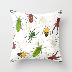 Beetles Throw Pillow