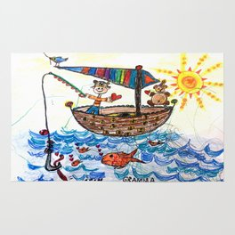 :: Row, Row, Row Your Boat :: Rug