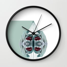 Mirrored Puppetry Wall Clock