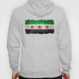 Independence flag of Syria, in grungy vintage style Hoody