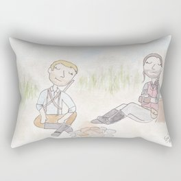 Outlaws with hearts of gold Rectangular Pillow