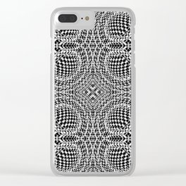 Black Wholes Clear iPhone Case