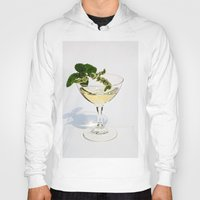 martini Hoodies featuring  Peppermint Martini by Guna Andersone & Mario Raats - G&M Studi